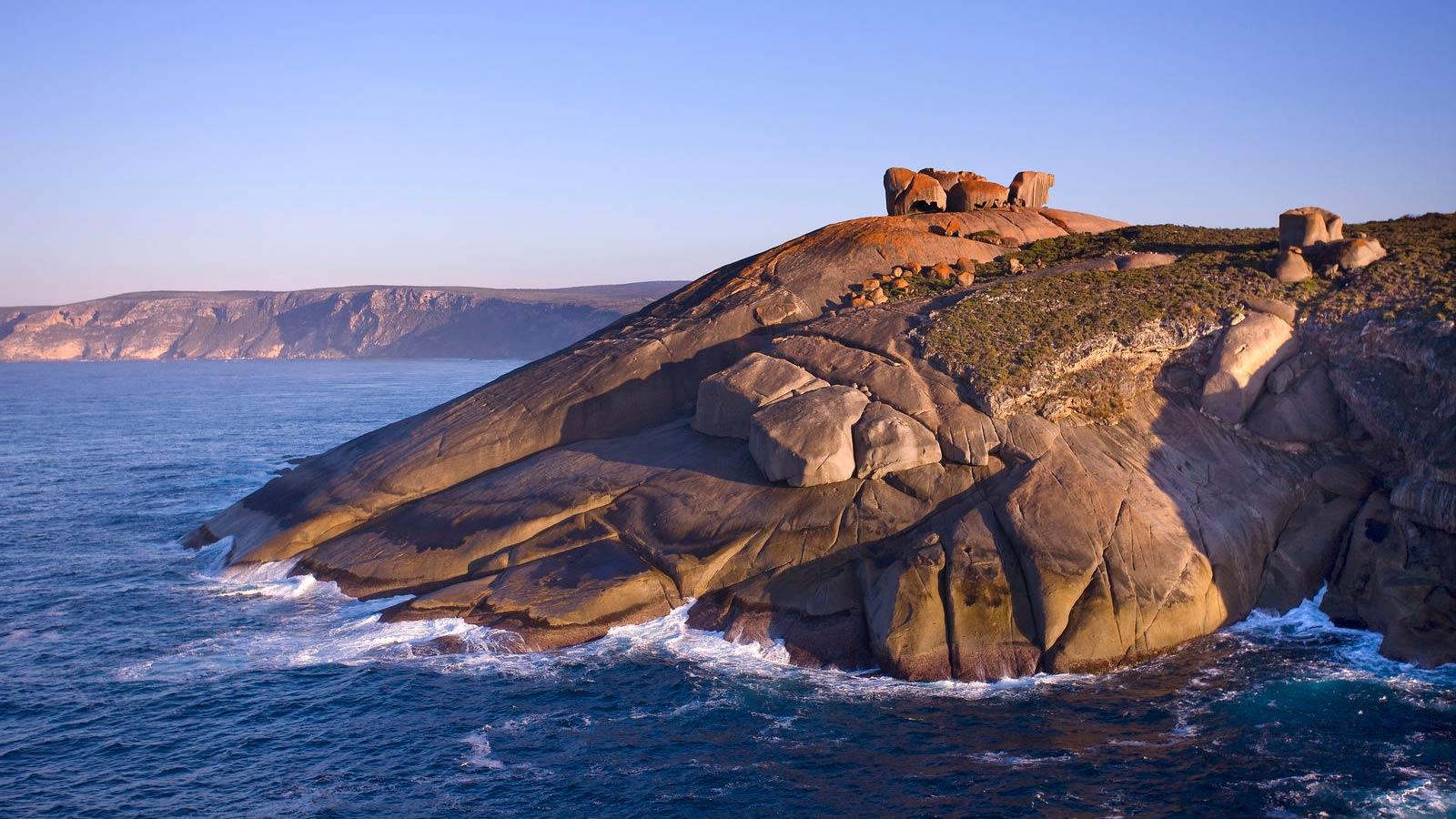 Remarkable Rocks på Kangaroo Island.
