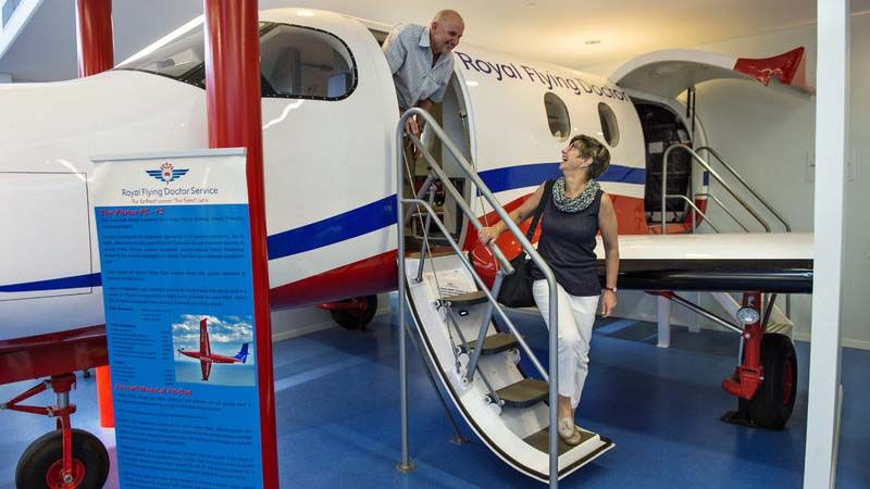 Royal Flying Doctor Service-museet i Alice Springs.