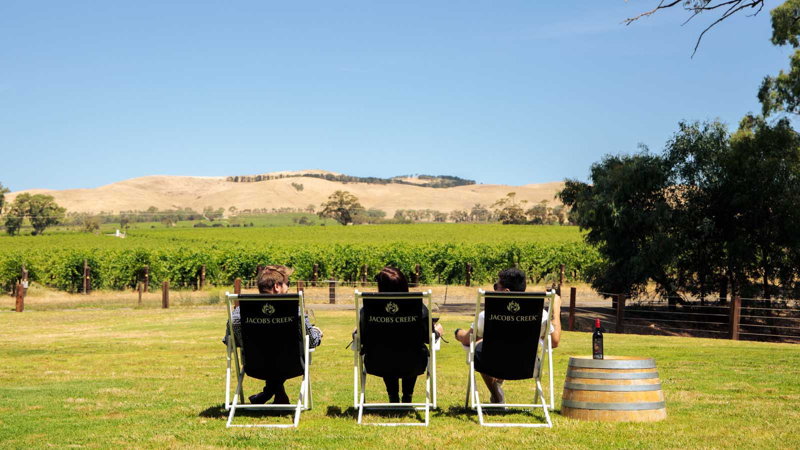 Jacobs Creek Winery i Barossa Valley.