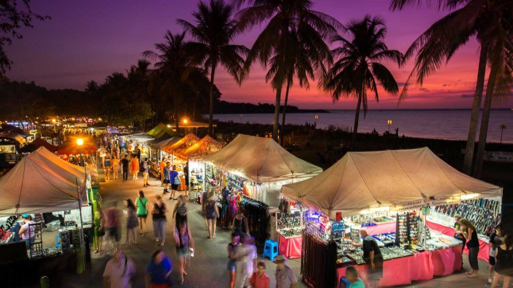 Mindil Beach Market i Darwin.