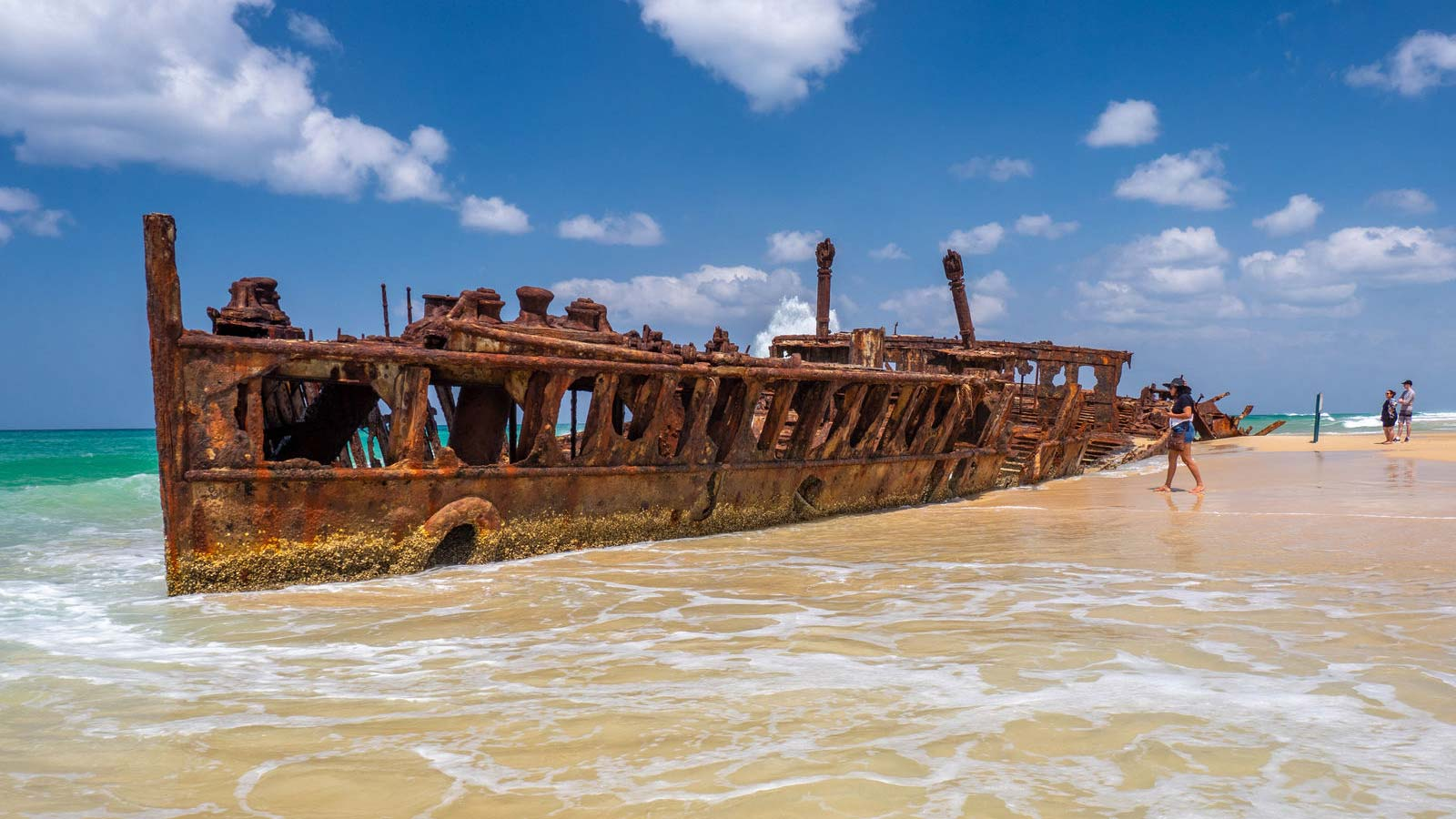 Maheno Wreck på Fraser Island.