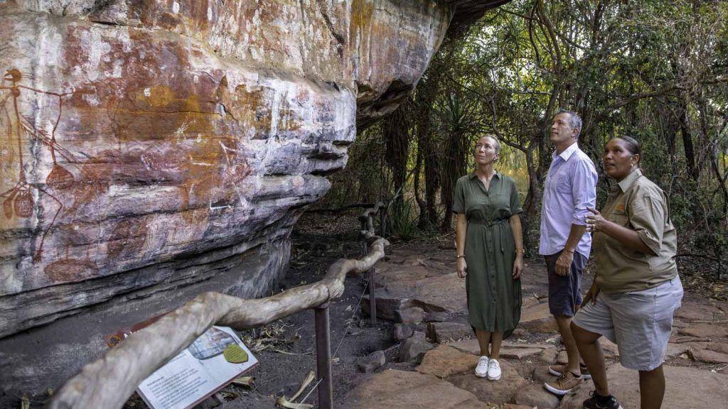 Rock art i Kakadu National Park.