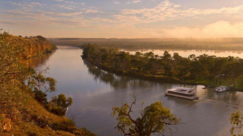 Husbåt på Murray River.