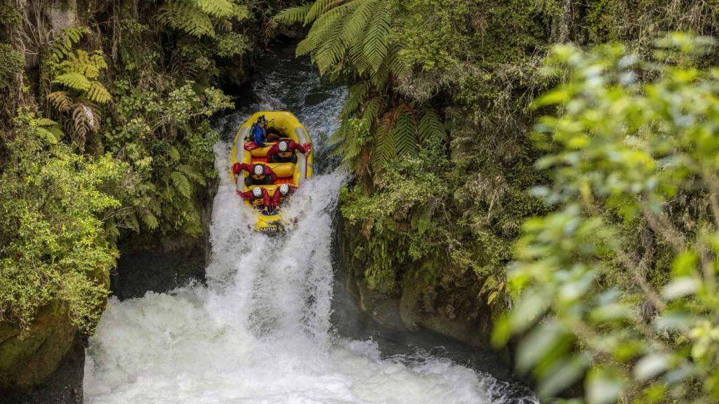 Rafting i Rotorua.