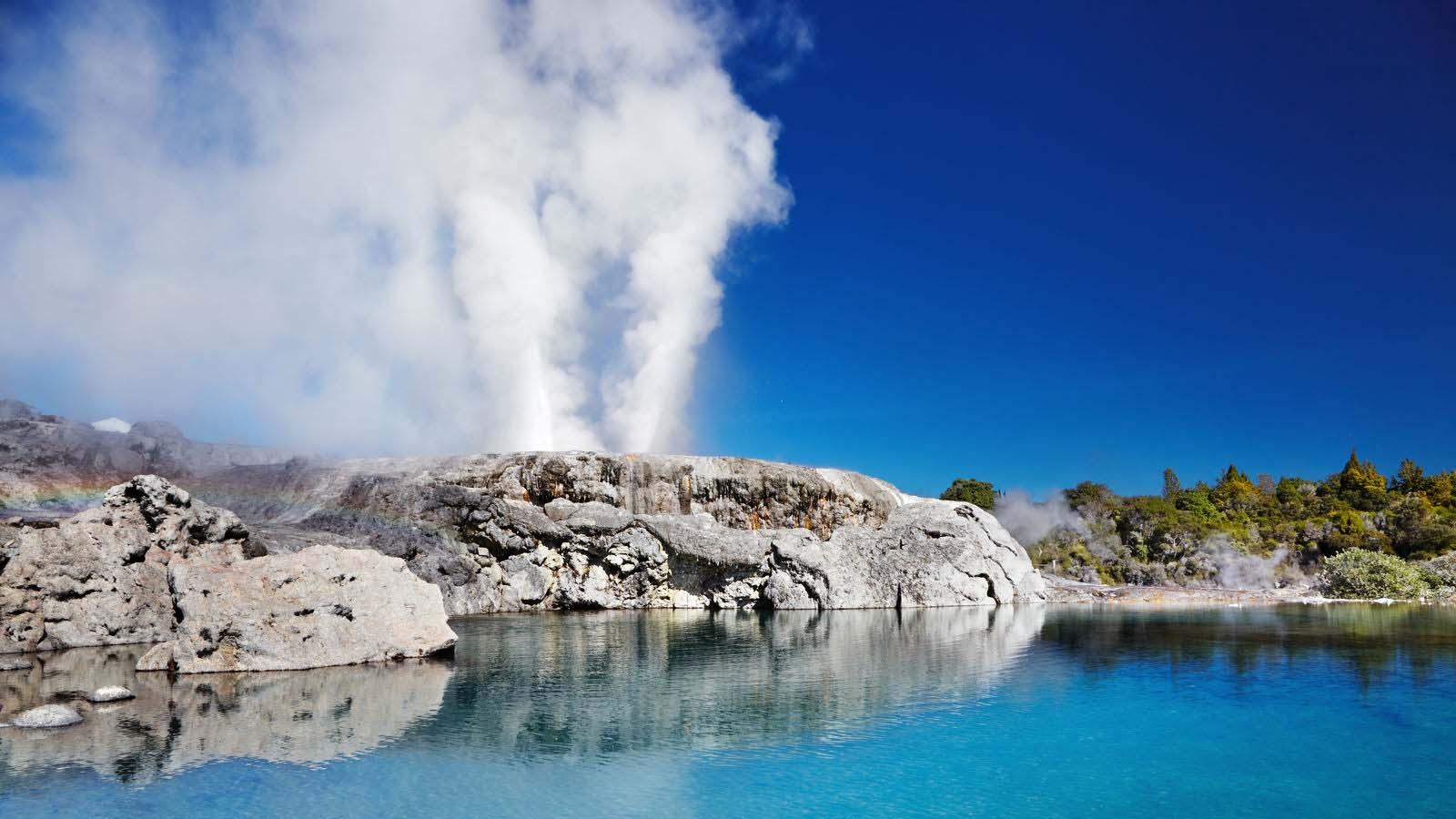 Geysir i Rotorua.
