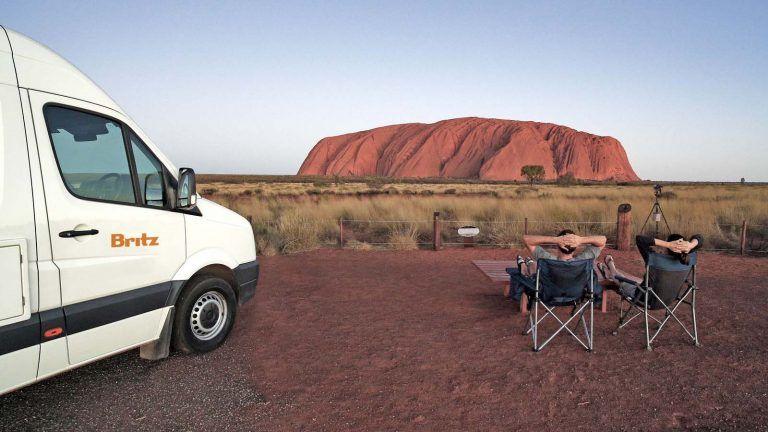 Britz ved Uluru.