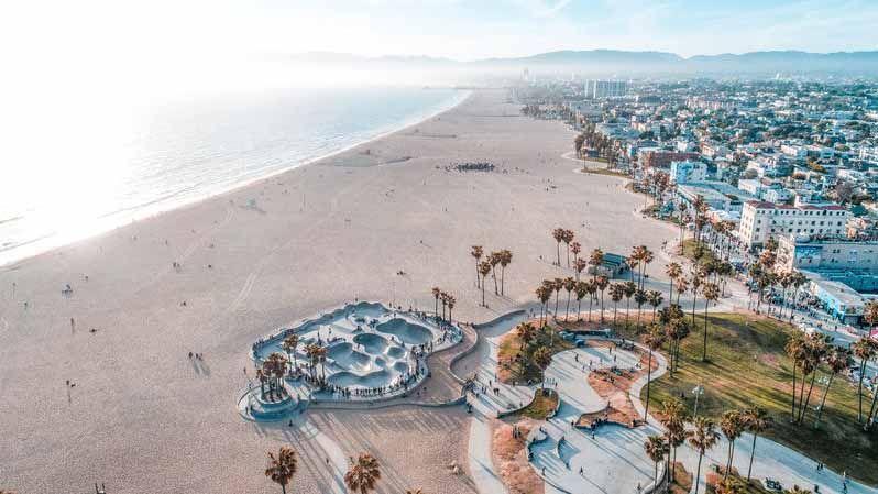 Venice Beach i Los Angeles.