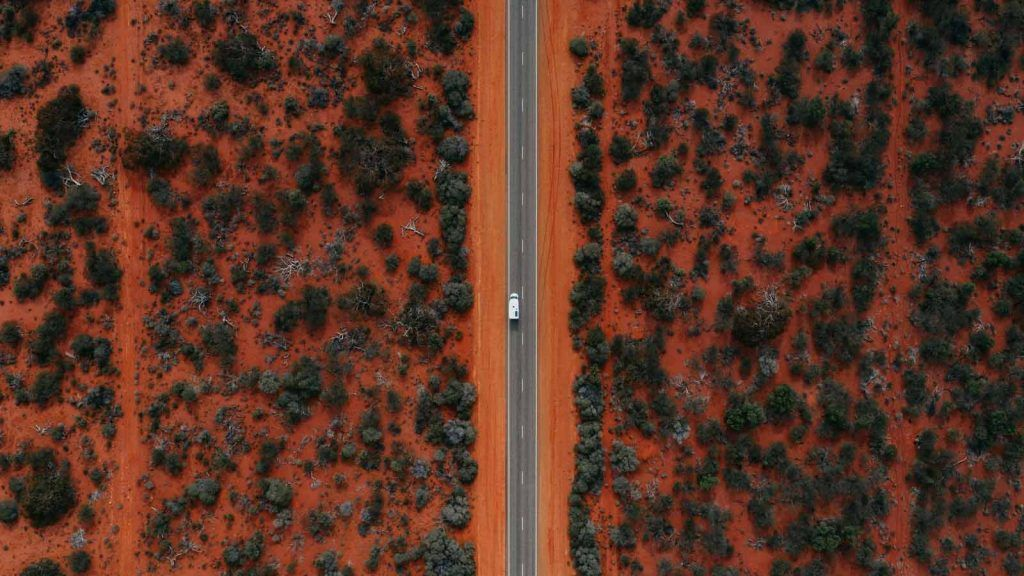 Shark Bay road.