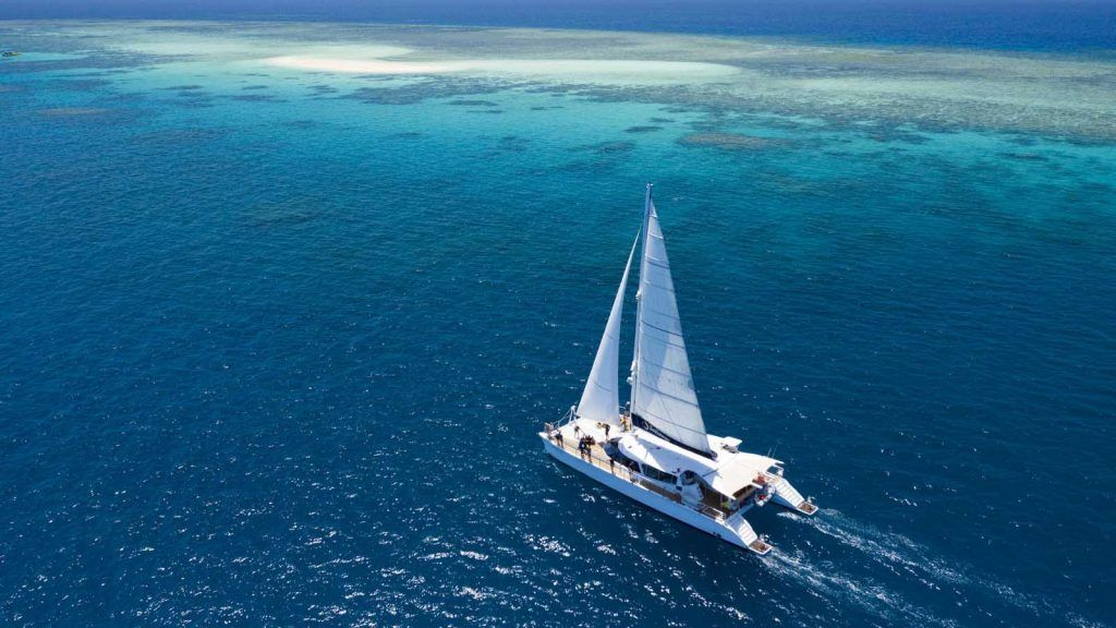 Sailaway på Great Barrier Reef.