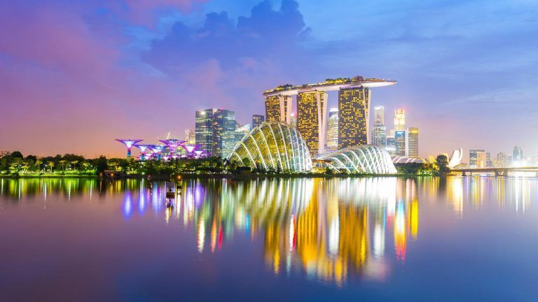 Singapore by night.