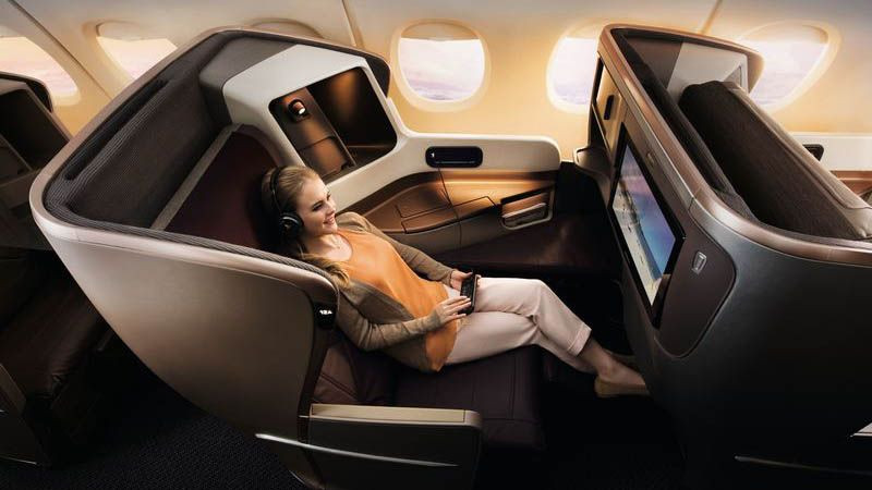 Singapore Airlines - Business Class.