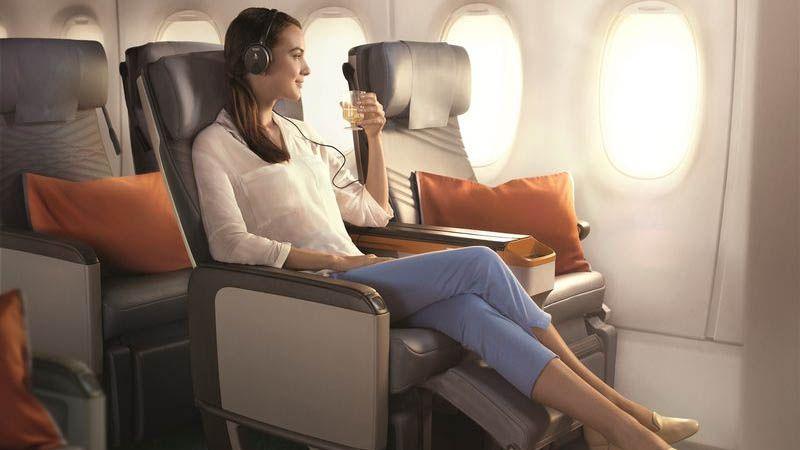 Singapore Airlines - Premium Economy Class.
